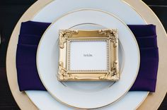 Black, Gold and Purple Wedding Ideas