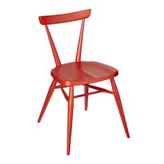 Red Stacking Chair by Lucian R. Ercolani, 1956. Produced by Ercol