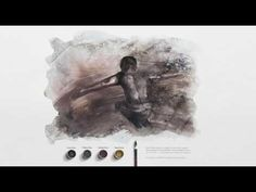 (1253) [AD STARS 2016 Gold] Dirty Watercolor poster - Girls - YouTube Foundation Brands, Star Work, Brown And Grey, Watercolors, Abs, Portrait, Artist, Girls, Youtube