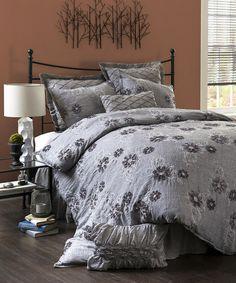 Gray Sara Comforter Set
