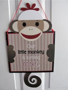 The Pursuit of Happiness: Connor's Sock Monkey 1st Birthday Party
