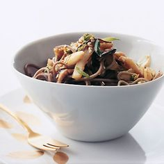 Spicy Soba Noodles with Shiitakes and Cabbage recipe
