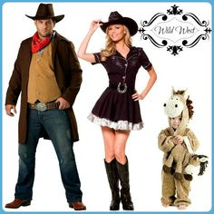 Wild west themed costumes for your whole family