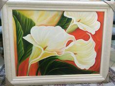 Copos de Leite Fluídos Frame, Painting, Home Decor, Art, Calla Lilies, Cups, Flowers, Picture Frame, Art Background