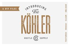 Köhler | Ultra Condensed Family by Hustle Supply Co. on @creativemarket