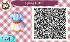 Animal Crossing Designs, fluffycrossing:      Spring Outfit       I can...