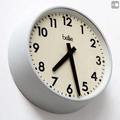Vintage French Industrial Clock by Brillié, 1970s. 26cm diameter