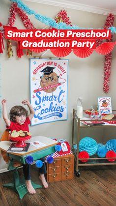 Graduation Treats, Kindergarten Graduation, Graduation Party Decor, Gift Tags Printable, Printable Invitations, Party Printables, Preschool Themes, Preschool Lessons, Kindergarten Photos