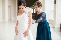 Wedding dress zip up with Mother of Bride