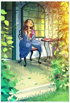 Beautiful art illustrations by Yaoyao Ma Van As Art Shared by Veri Apriyatno Artist . Art And Illustration, Art Illustrations, Art Anime, Anime Kunst, Cartoon Kunst, Cartoon Art, Fantasy Kunst, Fantasy Art, Art Mignon