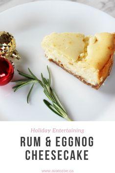 Rum & Eggnog Cheesecake PIN