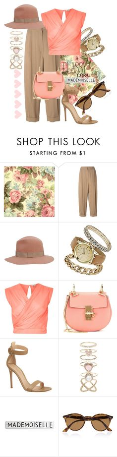 """""""#coolcorals"""" by ana-anny-blagojevic ❤ liked on Polyvore featuring beauty, Sportmax, rag & bone, Dorothy Perkins, River Island, Chloé, Gianvito Rossi, Accessorize, Ray-Ban and coolcorals"""