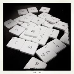 Upcycled Apple keyboard magnets from Etsy
