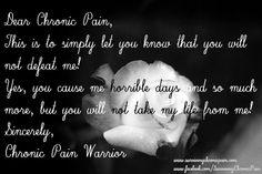 Dear Chronic Pain