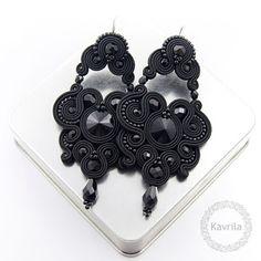 Kavrila - biżuteria autorska . sutasz . soutache: Rexire black soutache