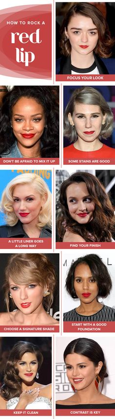 Master the perfect red lip with this guide that's filled with quick and easy tips.