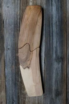 Unique walnut cutting board.