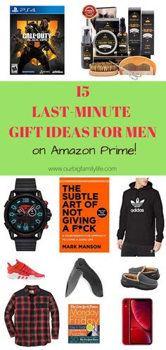 Check out these last-minute gift ideas for men on Amazon Prime! With Amazon Prime's 2-day shipping, you still have a little time to order a gift! Click the pin image to see the gift list and order information. #lastminutegiftideasformen #giftideasformen # Christmas Gifts For Adults, All Things Christmas, Big Family, Family Life, Personal Hygiene, Last Minute Gifts, Christmas Activities, Gift List, Pin Image