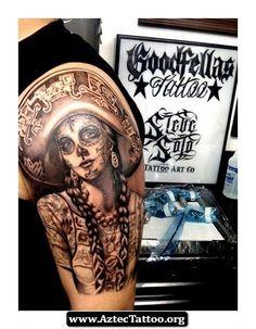 Steve Soto Aztec Tattoos 03 - http://aztectattoo.org/steve-soto-aztec-tattoos-03/ #cultural #tattoo #tattoos
