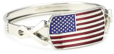 1928 Jewelry Made in America American Flag and Ribbon Cuff Bracelet - 1928, America, American, bracelet, Cuff, Flag, Jewelry, Made, Ribbon http://designerjewelrygalleria.com/1928-jewelry/1928-bracelets/1928-jewelry-made-in-america-american-flag-and-ribbon-cuff-bracelet/