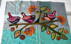 appliqué birds on a branch Sue Spargo style