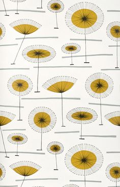 These 21 MidCentury Modern Wallpaper Ideas Will Transform Your Walls is part of Scandinavian Home Accessories Mid Century - These playful patterns make the case for this timeless trend Mid Century Modern Wallpaper, Mid Century Modern Bathroom, Mid Century Modern Fabric, Mid Century Art, Mid Century House, Mid Century Modern Design, Mid Century Modern Colors, Retro Wallpaper, Pattern Wallpaper