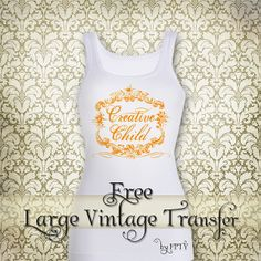 Free vintage Iron on Transfer_Vintage Child_web ex by Free Pretty Things For You!