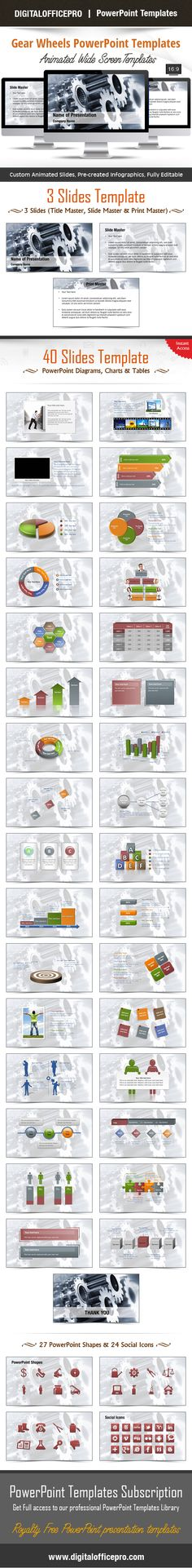 Impress and Engage your audience with Gear Wheels PowerPoint Template and Gear Wheels PowerPoint Backgrounds from DigitalOfficePro. Each template comes with a set of PowerPoint Diagrams, Charts & Shapes and are available for instant download.