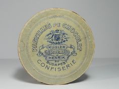 Korai Kugler Henrik Gerbeaud Pastilles de Chocolat csokoládé doboz / Vintage Chocolate Box, Candy Box