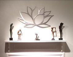 Arte de pared de Metal de flor de loto Lotus por INSPIREMEtals
