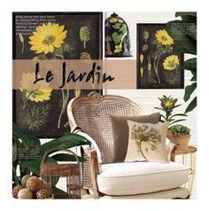 """Le Jardin"" by kearalachelle ❤ liked on Polyvore featuring interior, interiors, interior design, home, home decor, interior decorating, Élitis, Dot & Bo and Pillow Decor"