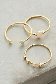 Dainty stacking rings.