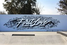 """""""First Love""""Project: Skatepark space in Coyoacán, México city.Curated by: ArtsynonymProduction: Enriqueta AriasCommissioned by: INJUVE CDMX & Mercadorama"""