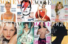 Magazine Cover: Twenty Years of Kate Moss on Vogue UK