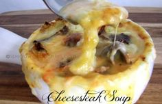 Cheesesteak Soup! Love it? Pin it! Follow Spend With Pennies on Pinterest for more great recipes! I love Cheesesteaks... I love cheese... and I LOVE this creamy cheesy Cheesesteak Soup! It's fairly simple to put together and tastes amazing! I like...