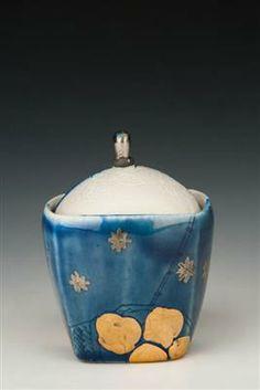 AKAR: : Art / Galloway, Julia / Salt Cup with Still Life Gold Fruit