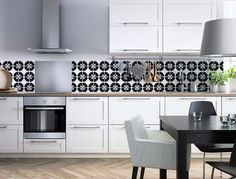 Backsplash BLACK & WHITE | Ikea KITCHENS | 123kea