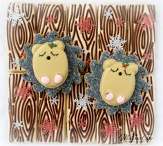 Melissa Joy Fanciful Cookies ~ Woodland Christmas Hedgehog Cookies