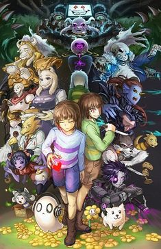 Anime Undertale Sans/Chara/Frisk Home Decor Poster Wall Scroll Undertale Comic, Flowey Undertale, Undertale Drawings, Undertale Fanart, Frisk, Muffet Undertale, Asgore Undertale, Undertale Rule 34, Undertale Game