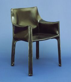 "Cab Armchair Mario Bellini (Italian, born 1935)  1978. Tubular steel and leather, 32 1/4 x 23 5/8 x 20 1/2"" (81.9 x 60 x 52.1 cm). Manufactured by Cassina, S.p.A., Milan. Gift of Atelier International Ltd. © 2013 Mario Bellini"