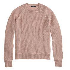 SALE J. Crew metallic side slit sweater J. Crew metallic side slit sweater in sparkle gold.  NWT.  66% polyester 34% metallic. J. Crew Sweaters