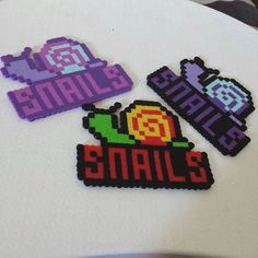 snails perler - Google Search