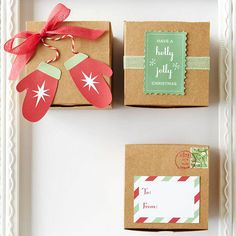 Be different! Make unique, personalized gift toppers and tags for your friends and family. Create a homemade gift tag, or use our free gift-tag downloads to make Christmas gifts look extra special.