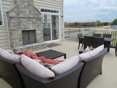 Duradek and Durarail deck on townhomes at Eastgate Square by Richmond American Homes in Chantilly, VA