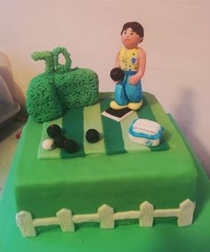 Crown Green Bowls Birthday cake. 70th.  www.facebook.com/thecakeillustrator