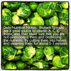 Daily Nutrition Nibble - Brussels Sprouts