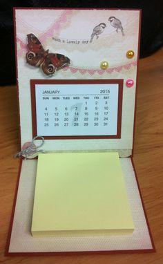 Easel card calendar