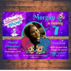 Shimmer and Shine Birthday Invitation by MamaBearWorkshopCo on Etsy