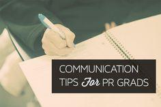 Job Tips for PR Grads