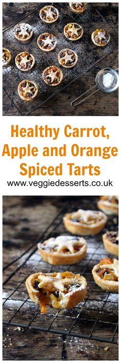 Healthy Carrot and Apple Mince Pies | Organix No Junk Journey | Veggie Desserts Blog  These healthy carrot and apple mince pies are easy to make, refined sugar-free and bursting with fruit and veg. They're a perfect Christmas treat for kids and grown-ups.